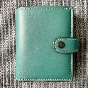 Coach Leather Small Trifold Wallet